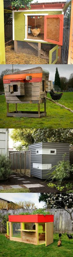 Chicken Coop - The most creative and beautiful urban chicken coops (Chicken Houses Projects) Building a chicken coop does not have to be tricky nor does it have to set you back a ton of scratch. Urban Chicken Coop, Diy Chicken Coop, Chicken Chick, City Chicken, Chicken Houses, Urban Chickens, Chicken Coop Designs, Building A Chicken Coop, Raising Chickens