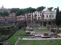 Di largo di Argentina/ Theatre of Pompey Julius Caesar Assassination Site Archaeological-area-torre- ...