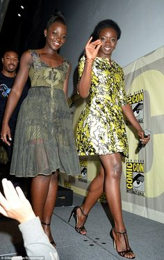 """Lupita Nyong'o and Danai Gurira from Marvel Studios """"Black Panther"""" attend the San Diego Comic-Con International 2016 Marvel Panel in Hall H on July African Beauty, African Women, African Fashion, Black Girls Rock, Black Girl Magic, My Black Is Beautiful, Beautiful People, Look Vintage, African Attire"""