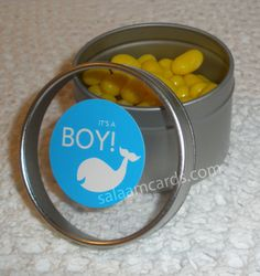 Set of 12 Its a Boy Favors by SalaamCards on Etsy, $24.00