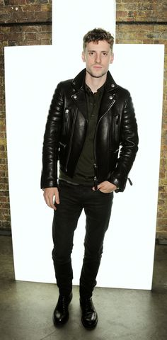 British musician George Barnett in a luxe Burberry Leather Jacket #leather #jacket #menswear