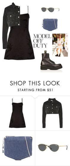 """Kaia Gerber"" by cheapchicceleb ❤ liked on Polyvore featuring Shibuya, Topshop, Eddie Borgo, Vogue, R13, Gerber, CelebrityStyle, modeloffduty and KaiaGerber"