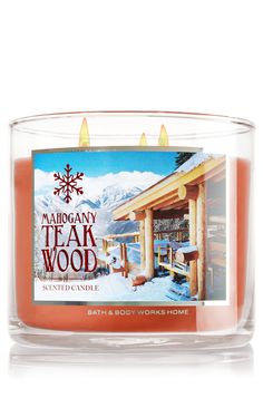 Mahogany Teakwood 3-Wick Candle - Home Fragrance 1037181 - Bath & Body Works