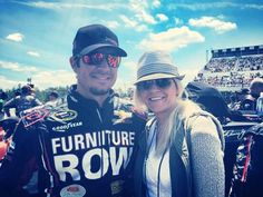 Mark and sherry at the Pocono win 2015