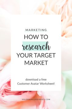 You know that research should be part of your digital marketing plan, right? But maybe you're struggling with how to even begin conducting target market reserach. In this post, you'll discover easy ideas that will help you get clear on who your ideal customer is and what she needs so that you can choose the most effective marketing strategies. Business Planner, Business Tips, Online Business, Effective Marketing Strategies, Content Marketing Strategy, Digital Marketing Plan, Blog Planner, Online Entrepreneur, Research