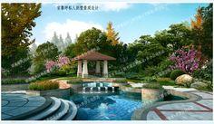 官黎坪私人别墅景观设计图鉴 - 成功案例 - 张家界楚峰园林设计网