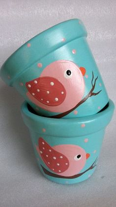 Gardening – Gardening Ideas, Tips & Techniques Flower Pot Art, Flower Pot Design, Clay Flower Pots, Flower Pot Crafts, Clay Pot Crafts, Jar Crafts, Paint Garden Pots, Painted Plant Pots, Painted Flower Pots