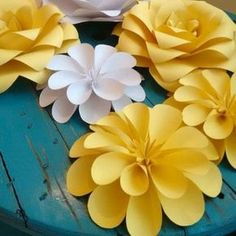 Blossom flowers - paper flower art