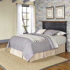 Home Styles Americana King Headboard (Rubbed white and oak), Brown