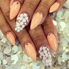 Peach Michael Kors Nail Art