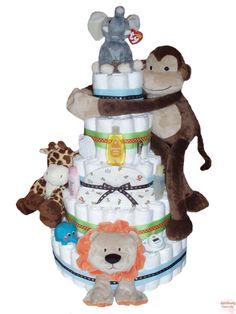 Giant Jungle Diaper Cake 5 Tier!!!