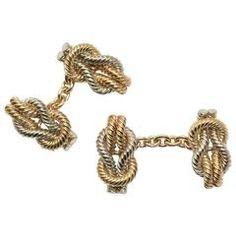 CARTIER cufflinks gold