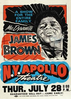 James Brown N. Y. Apollo Autographed Concert Poster (1995)