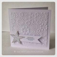 SU card: Whisper White, Silver SU ink: Encore Silver SU stamps: Joyous Celebrations SU punch: Square, Star