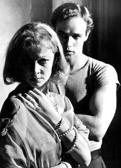 """Vivien Leigh and Marlon Brando in """"A Streetcar Named Desire"""""""