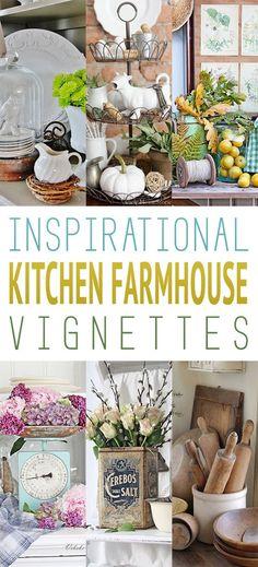 Inspirational Kitchen Farmhouse Vignettes - The Cottage Market