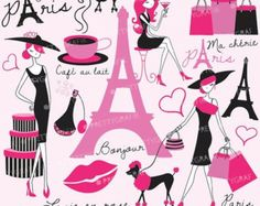 80% OFF SALE paris travel clipart for by Prettygrafikdesign