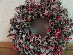 8  Country Christmas Mini Rag Wreath by RagamuffinDesignShop, $20.00
