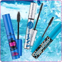 hi beauties, waterproof mascara is absolutely essential in the summertime. the choice is yours:  ► get big! lashes volume boost waterproof mascara ► lash mania reloaded waterproof mascara ► all eyes on me waterproof multi-effect mascara  would you like to see a waterproof version of any other essence mascara in our range?