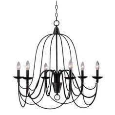Cast A Warm Glow In Your Foyer Or Dining Room With This Elegant Metal Chandelier Showcasing Scrolling Openwork Silhouette And Oil Rubbed Bronze Finish
