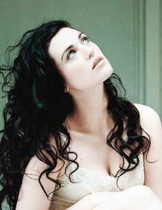 Katie McGrath: dark curly hair