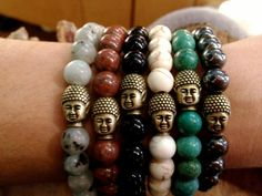 Vintage Brass Buddha Bracelet in Assorted Colors  by GrizzyLove, $22.00