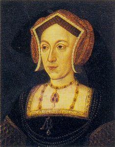 Likely portrait of Anne Boleyn. I believe it because it reminds me of portraits of Elizabeth.