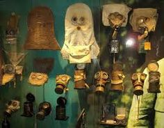 Masks at the Passchendaele Museum