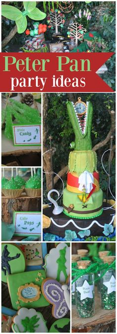 This awesome Peter Pan party was for a sweet little boys' first birthday! See more party ideas at CatchMyParty.com!