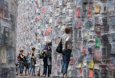 Calling all bookworms: an artist has built a temple made out of 100,000 banned books