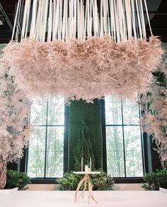 Light as a feather! @kehoedesigns Modern Art Deco, Ballroom Wedding, Marquee Wedding, Chuppah, Art Deco Wedding, Contemporary Interior Design, Ceiling Decor, Arte Floral, Ceremony Decorations