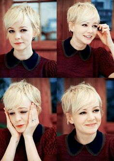 Try a pixie haircut, but it wouldn't look anything like this cuz of the curliness...
