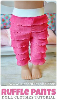 American Girl Doll Ruffle Pants Tutorial