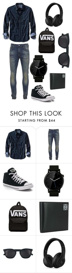 """Untitled #31"" by suma-saeed ❤ liked on Polyvore featuring Banana Republic, Scotch & Soda, Converse, Motorola, Vans, Loewe, Yves Saint Laurent, Beats by Dr. Dre, men's fashion and menswear"