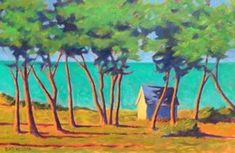 Trees at West Chop by Peter Batchelder, Oil, Limited Edition Giclee