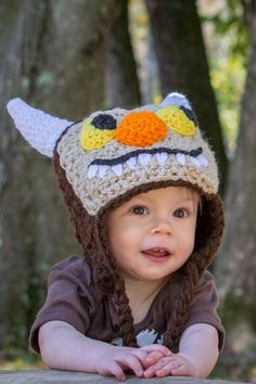Where The Wild Things Are crochet hat by crochetmomma2011 on Etsy https://www.etsy.com/listing/208642472/where-the-wild-things-are-crochet-hat