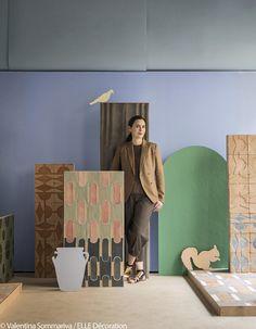 """Cristina Celestino - Collection """"Giardino all'italiana"""" (sol et mur) pour Fornace Brioni"""
