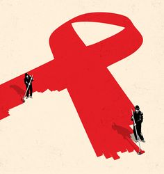 A collection of creative editorial illustrations for various magazines by Tang Yau Hoong from Kuala Lumpur, Malaysia. Graphic Illustration, Graphic Art, Graphic Design, Aids Poster, Tang Yau Hoong, Eiko Ojala, Aids Awareness, World Aids Day, Anais Nin