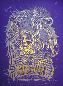 Image of CLUTCH (2013) Screenprinted Poster 2