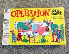 Visit Don's Game Closet for 1962 Operation game by Milton Bradley. We have of vintage board games and rules. Childhood Games, My Childhood Memories, Sweet Memories, Family Memories, Nostalgia, Operation Board Game, Vintage Board Games, Milton Bradley, Christmas Toys
