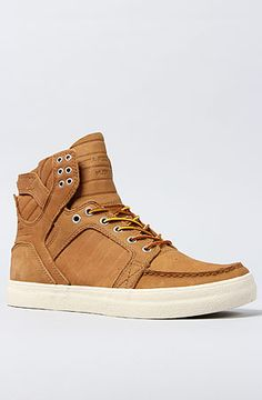 SUPRA The Skymoc Sneaker in Light Brown Full Grain Leather
