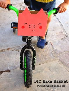 DIY Piggy Bike Basket