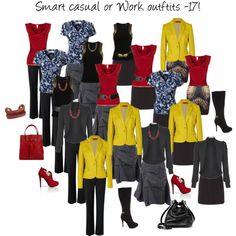 17 smart casual or work outfits created from just 10 pieces