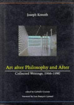 art after philosophy