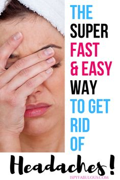 After years of headaches, I have figured out the holy grail of fast headache relief - without medication. These easy, affordable headache remedies will get rid of your headache fast. Home Remedy For Headache, Natural Headache Remedies, Pain Relief, Natural Headache Relief, Migraine Headache, Natural Cures, Natural Health, Health And Fitness Magazine