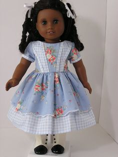 1800's Style Dress for 18 Inch Doll by blinkersoh on Etsy