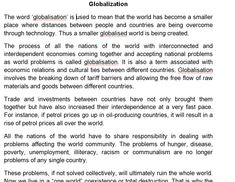 paragraph about globalization