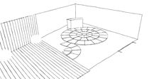 Working out the strong arc deco shapes using a paved circle kit. This client is on a budget so by using a pre cut shape it reduces labour costs. Landscape Design, Garden Design, Cuprinol Garden Shades, Circular Patio, Sandstone Paving, Hardwood Decking, Side Gates, Earth Design, Family Garden