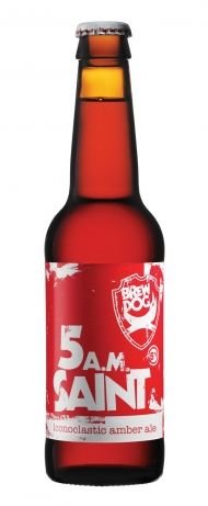 5am Saint - BrewDog - Once this ruby liquid forms a foamy halo around your glass, you will never want to look back.