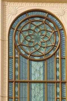 Beautiful Windows on Gilbert, Arizona LDS Temple